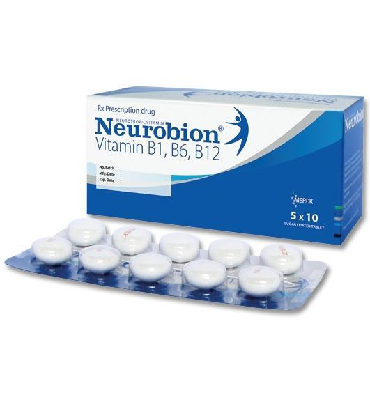 Neurobion (vitamin B1, vitamin B6, vitamin B12)