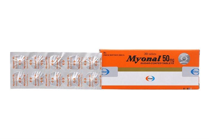 Thuốc giãn cơ Myonal 50 mg