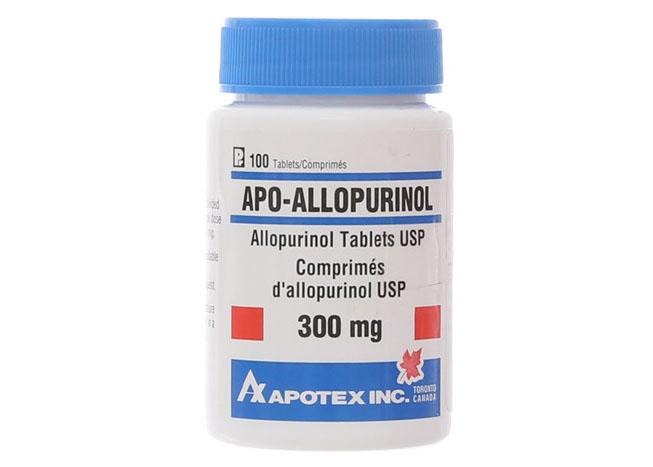allopurinol hạ acid uric máu
