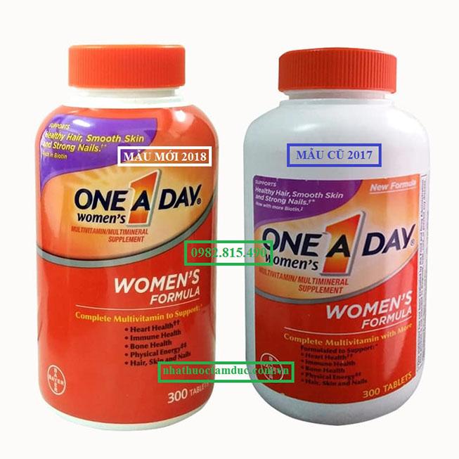 one a day women cho phụ nữ dưới 50 tuổi mẫu mới và mẫu cũ