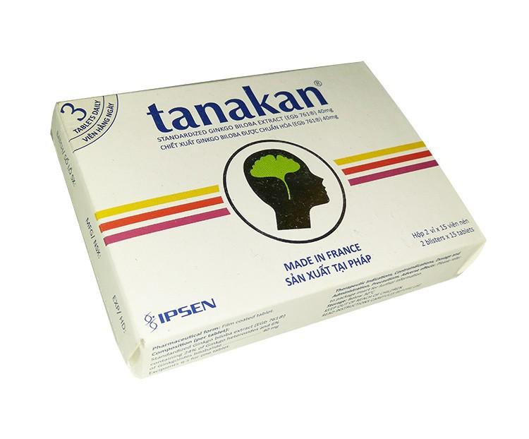 Tanakan (ginko biloba) chữa đau đầu, rối loạn tiền đình