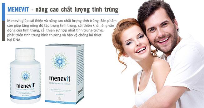 Image result for Viên Uống Menevit Giúp Cải Thiện Và Nâng Cao Chất Lượng Tinh Trùng 90 viên