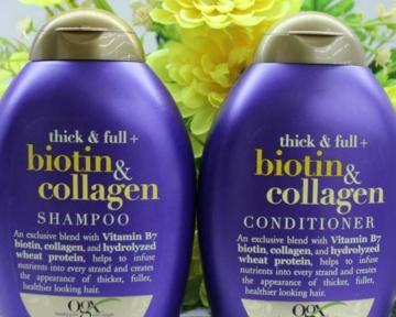 Dầu gội và dầu xả Biotin & Collagen Thick & Full hãng OGX - Mỹ