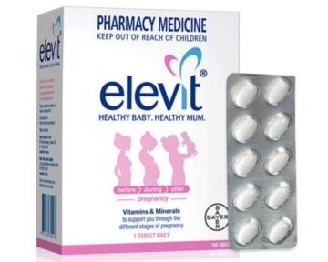 Thuốc bổ bà bầu Elevit  hộp 100 viên của hãng Bayer - Úc