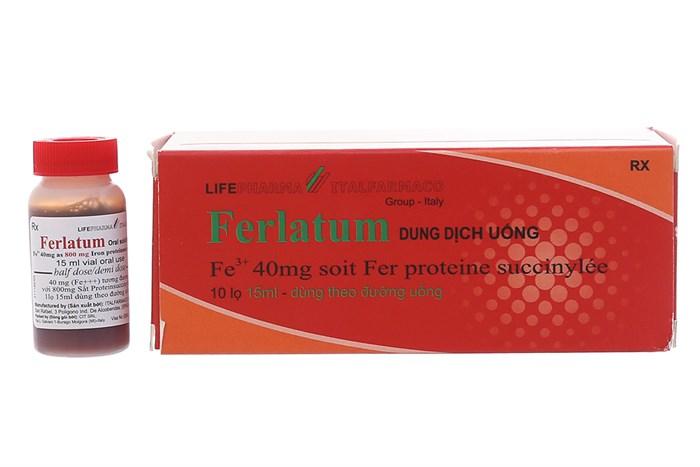 Ferlatum chữa thiếu máu