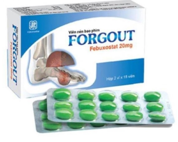Forgout - hạ acid uric, điều trị bệnh Gút