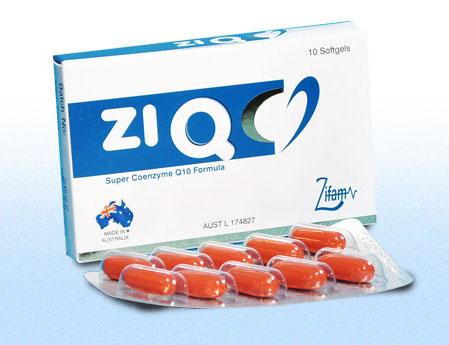 ZiQ chứa Coenzyme Q10 giúp bảo vệ tim mạch, tăng khả năng thụ thai