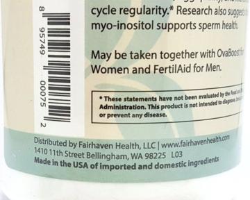 Myo Inositol hỗ trợ điều trị đa nang buồng trứng lọ 120 viên hãng Fairhaven Health - Mỹ