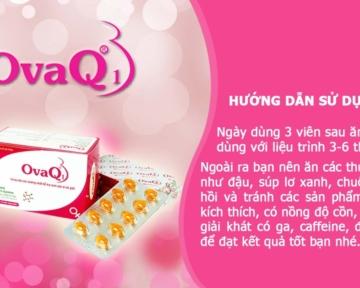 OvaQ1 tăng chất lượng trứng, tăng khả năng thụ thai