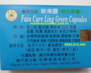 Thuốc Khớp Cường Lực Toan Thống Linh Kwan Shi Yu Lin (Fain Cure Ling Green Capsules)