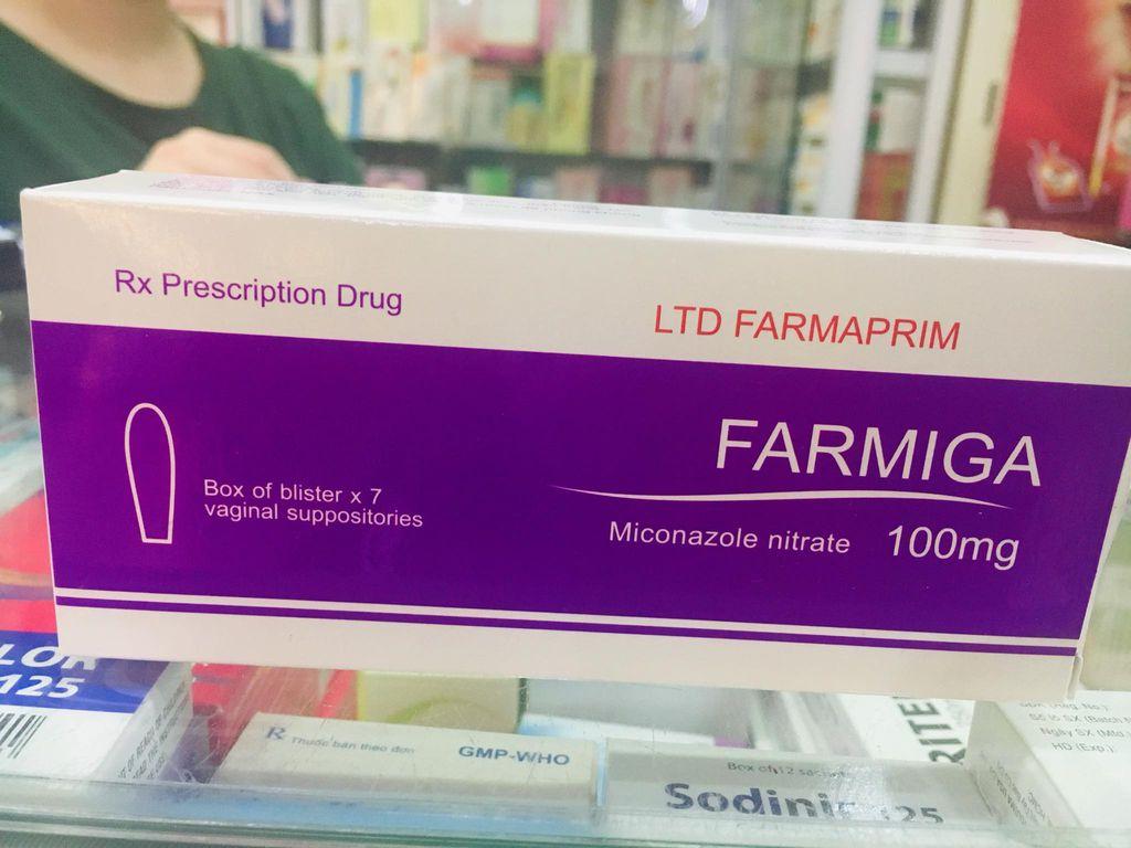 Thuốc đặt âm đạo FARMIGA (Miconazole)